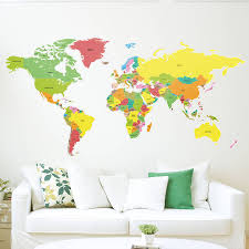 world map with country names contemporary wall decal sticker world map wall sticker map of the world wall decal 3d modern