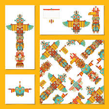 royalty free totem pole clip art vector images u0026 illustrations