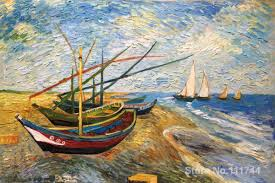 aliexpress com buy famous art for bedroom fishing boats on the aliexpress com buy famous art for bedroom fishing boats on the beach at saintes maries vincent van gogh paintings hand painted high quality from reliable