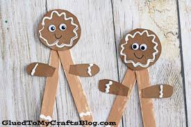 popsicle stick gingerbread man kid craft glued to my crafts