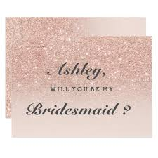 bridesmaid invitations uk glitter invitations announcements zazzle co uk