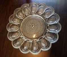 glass deviled egg platter vintage clear indiana glass deviled eggs by deesweetnostalgia my