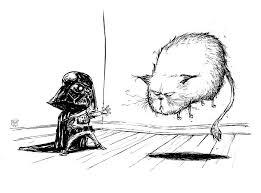 skottie young art star wars illustration of kid vader using jedi