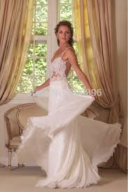 flowing wedding dresses free shipping spaghetti straps wedding dress 2016 a line bridal
