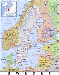 Map Sweden Se Sweden Public Domain Maps By Pat The Free Open Source