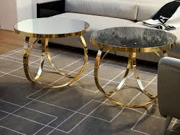 gold glass coffee table nella vetrina ottoline contemporary italian gold metal coffee table