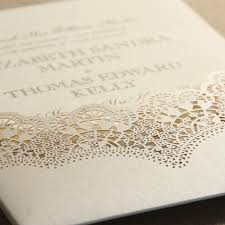 wedding invitations with pockets opal lace shimmer pocket with ecru wedding invitations crane