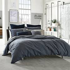kenneth cole reaction home douglas reversible duvet cover in blue