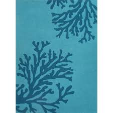 Peacock Blue Rug Designer Patio Accessories Teal Blue Coral Indoor Outdoor Rug