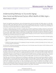 understanding pathways to successful aging how social and
