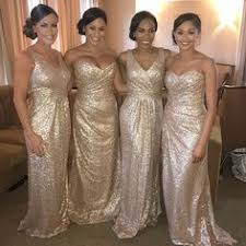 gold bridesmaid dresses sparkly gold sequin mermaid bridesmaid dresses real madred