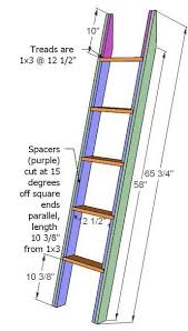 Build Your Own Loft Bed Free Plans by Bunk Bed Ladder Brackets Ladder For The Ladder Cut Two 2x4s 64