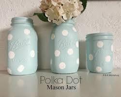 diy polka dot jars decorating craft and gift