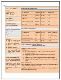Sample Resume For An Accountant by Resume Sample For Experienced Chartered Accountant 1 Career
