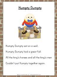 humpty dumpty nursery rhyme printable activities a to z teacher