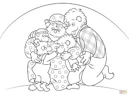 berenstain bears coloring page free printable coloring pages