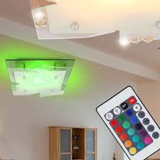 Design Spiegel Wohnzimmer 7 Watt Rgb Led Decken Spiegel Kristall Wohnzimmer Leuchte Dimmer