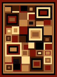 Modern Square Rugs Beige Black Modern Contemporary Geometric Linked In Square Rug