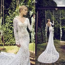 fashion long sleeve 2015 wedding dresses cheap full lace bride