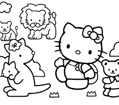 kitty friends coloring pages kitty friends