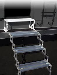Steps With Handrails Camper And Rv Steps And Handrails The Ultimate Scissor Step