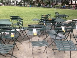 Green Bistro Chairs Bryant Park Blog Celebrate The Bistro Chair U0027s 125th Birthday With