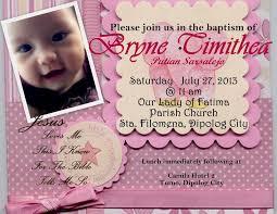 Formal Invitation Cards Baptism Sample Invitation Vertabox Com