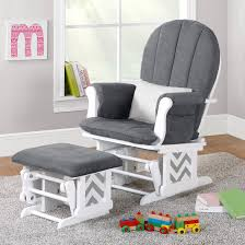 Best Nursery Rocking Chairs Sofa Ottomans Rocking Chair With Footstool Glider Ottoman Only