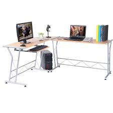 L Shaped Computer Desk Amazon by Amazon Com Tangkula L Shape Computer Writing Work Study Table
