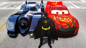 batman batcar zombie lightning mcqueen cars race track hd