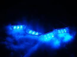4x3 led waterproof emergency grill strobe lights blue moto