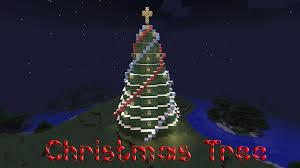minecraft christmas tree part 37 christmas tree at night