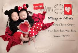 valentines baby baby mickey and minnie pose as s day sweethearts abc news