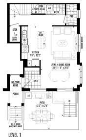 minto longbrach 2 floorplans 3 bedroom stacked townhomes in etobicoke