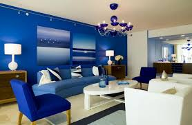 Blue Living Room Home Design Ideas - Blue living room color schemes