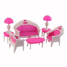 Disney Princess Armchair Toys 6pcs Cute Cartoon Princess Kids Toys Dolls Accessories Doll