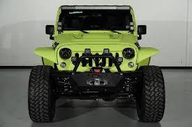 jeep wrangler custom lights 2014 jeep wrangler unlimited with kevlar liner finish in lamborghini