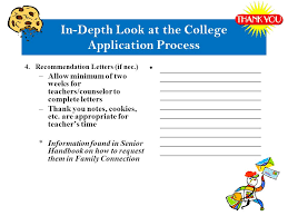 College Recommendation Letter Thank You Note Senior Information Welcome Guidance Time Line October 10