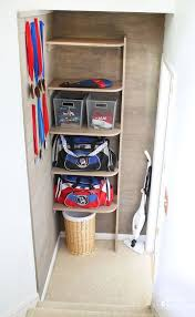 Sports Gear Storage in Small Space