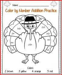 thanksgiving math activities for grade project