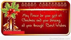 blessings merry wish saying on card