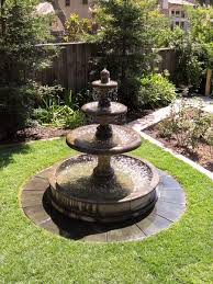 l with water fountain base exalted fountains how to support an outdoor fountain