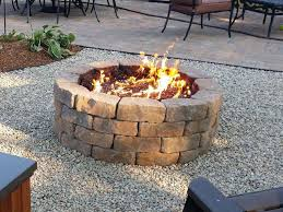 backyard stone fire pit exterior nice stone fire pit propane design ideas with green