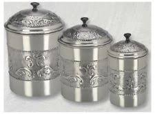 black kitchen canisters sets stainless steel kitchen canisters jars ebay
