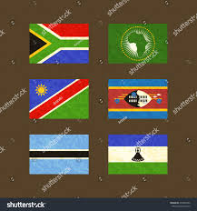 Flag Rsa Flags South Africa African Union Namibia Stock Vector 274929902