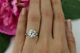 3 carat ring 3 carat 6 prong solitaire engagement ring promise ring