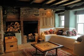 heated stone seating with large open fireplace yew tree farm