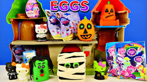 play doh surprise eggs halloween shopkins littlest pet shop my