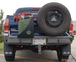 2002 toyota tacoma rear bumper replacement swing out tire carrier