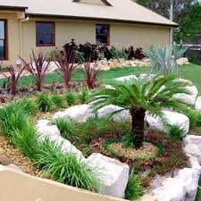Colored Rocks For Garden Pond Designs Ideas Colored Rock Front Yards Small Front Yard Rock
